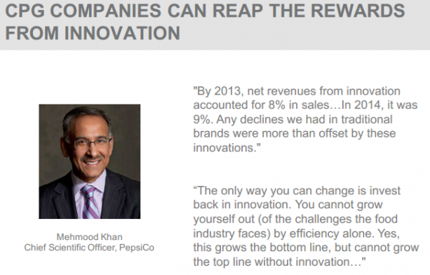 CPG COMPANIES CAN REAP THE REWARDS FROM INNOVATION