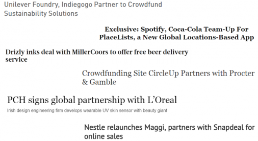 CPG BRANDS ALSO PARTNER WITH STARTUPS