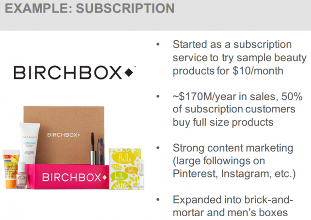 EXAMPLE: SUBSCRIPTION