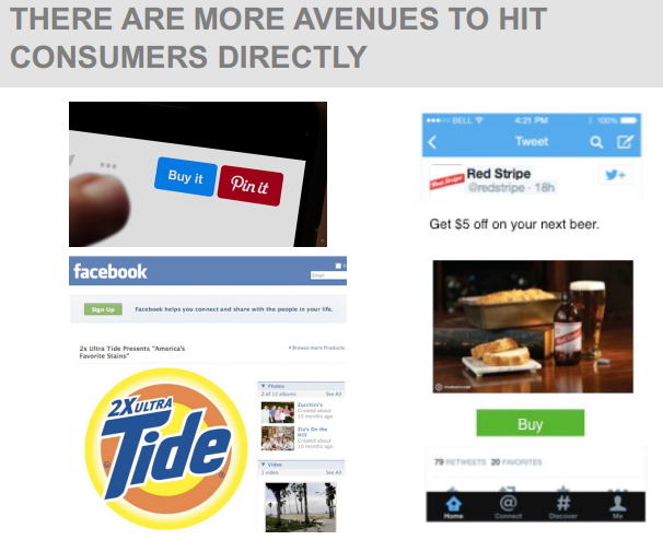 THERE ARE MORE AVENUES TO HIT CONSUMERS DIRECTLY