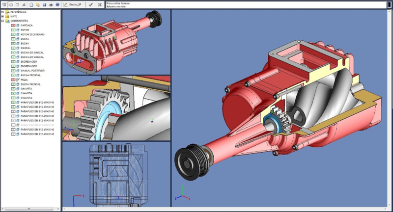 SolidFace 3D CAD PTV Freeware
