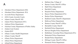 Law enforcement client list