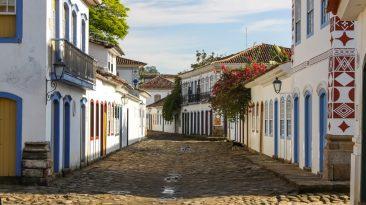 O centro histórico de Paraty