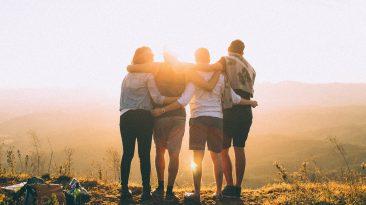 por do sol em família
