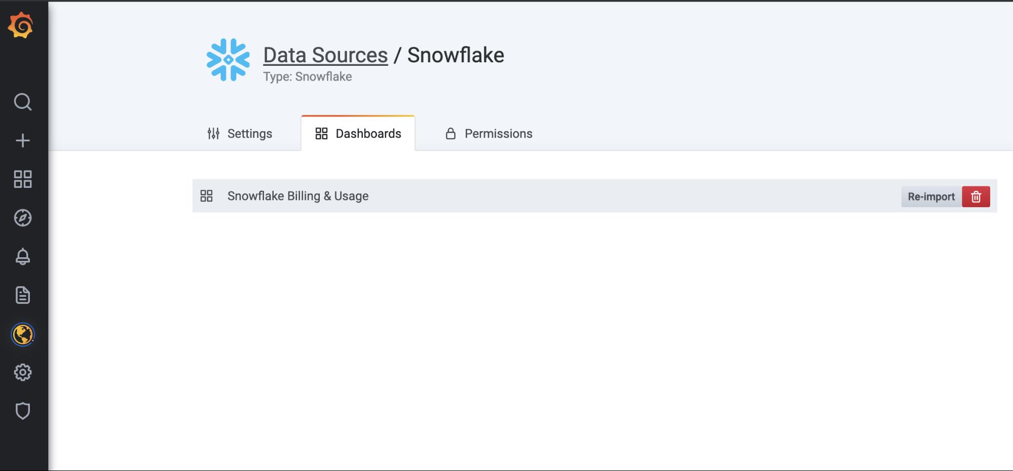 snowflake billing and usage dashboard
