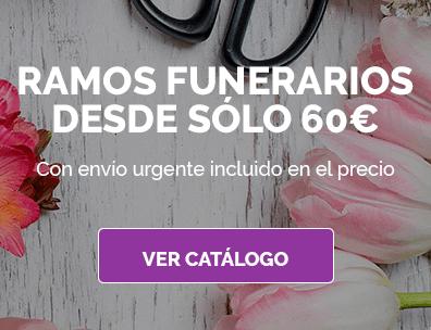 Ramos funerarios desde sólo 60€. Con envío urgente incluído en el precio.