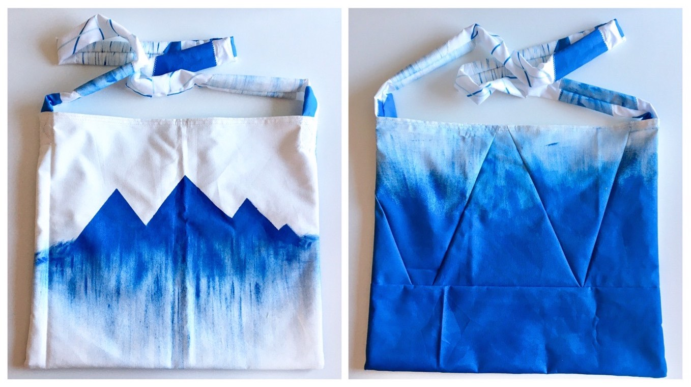 Hand-painted tote — front and back