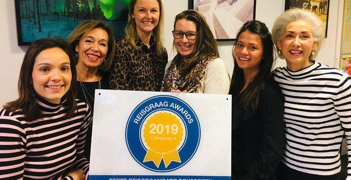 Reisgraag award 2019 gewonnen!!