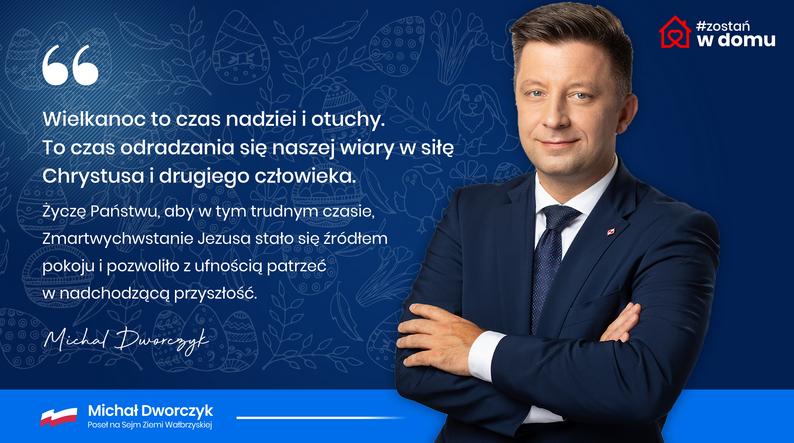 Szef Kancelarii Prezesa Rady Ministrów Michał Dworczyk składa życzenia - Zdjęcie główne