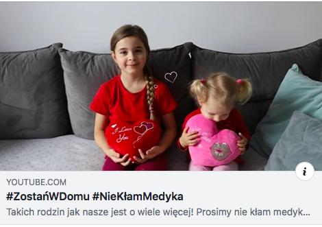 #ZostańWDomu i #NieKłamMedyka - Zdjęcie główne