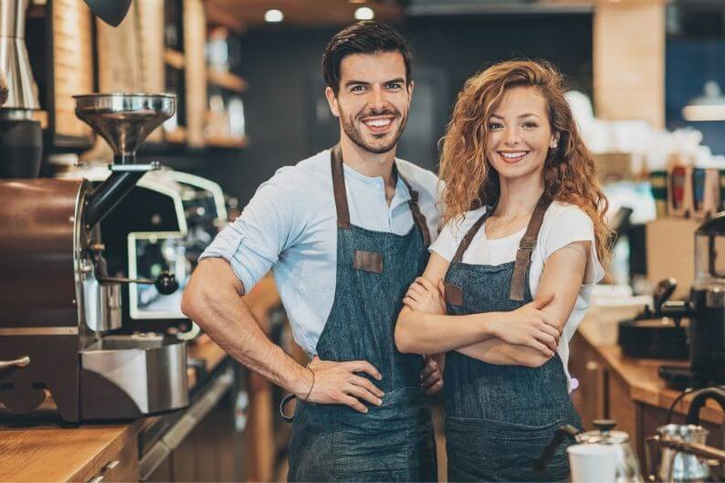 A husband and wife team who have decided to leave their day jobs and open their own franchise.