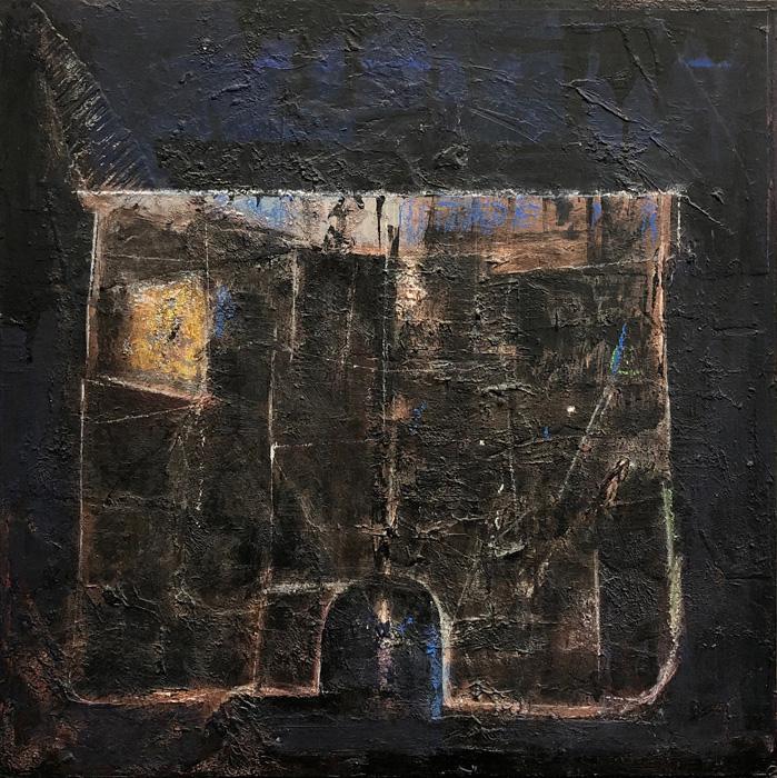 Art work by Alberto Mijangos, Untitled (Chónes series or Underwear series), painting, 30 x 30 inches (76 x 76 cm)