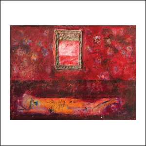 Art work by Alberto Mijangos, Alberto Sleeping, painting, 36 x 48 in (91.5 x 122 cm)