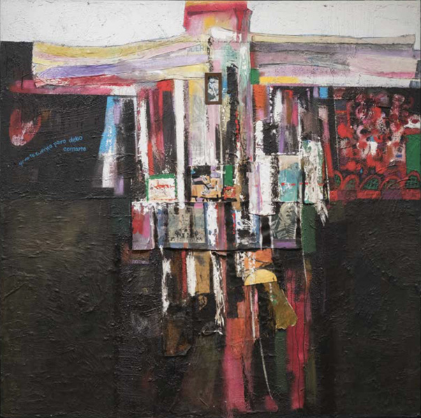 Art work by Alberto Mijangos, A Am Not Telling You, But I Should Tell You, painting, 80 x 80 in