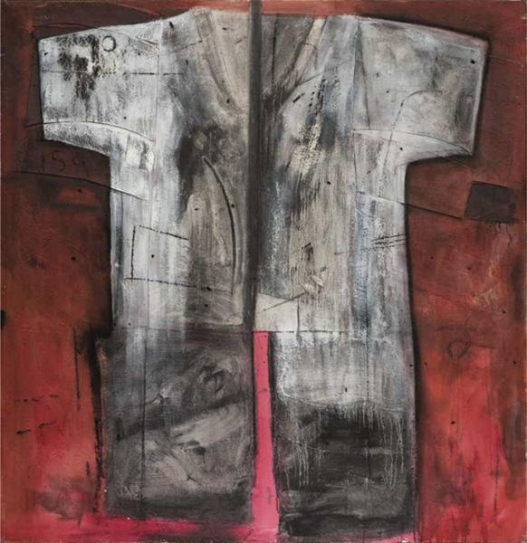Art work by Alberto Mijangos, Untitled (T-Shirt series), 1998, painting, 80 x 80 in