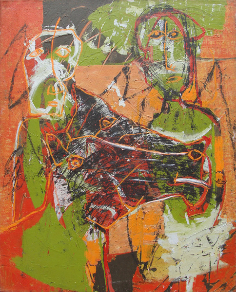 Art work by Alejandro Santiago, El Jinete, painting, 100 x 80 cm