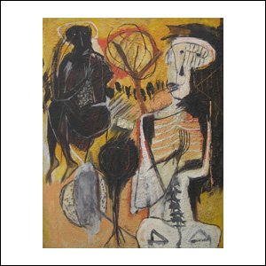 Art work by Alejandro Santiago, Untitled (1), 2002, painting, 100 x 80 cm