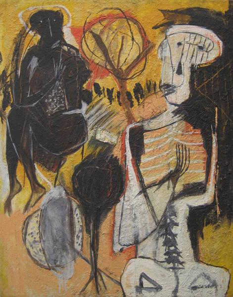 Art work by Alejandro Santiago, Untitled (1), 2002, painting, 100 x 80 cm