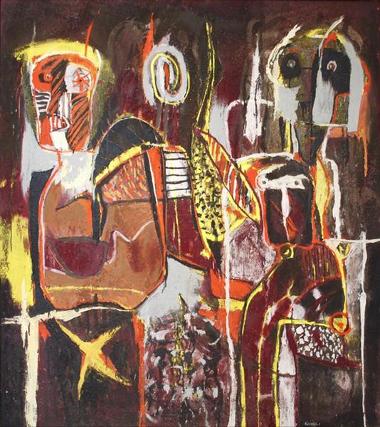 Art work by Alejandro Santiago, Untitled, 2000, painting, 168 x 150 cm