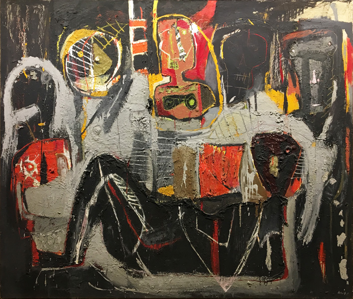 Art work by Alejandro Santiago, Untitled, 2001, painting, 67 x 78.75 in (170 x 200 cm)