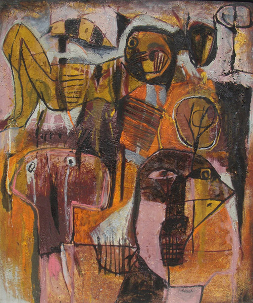 Art work by Alejandro Santiago, Untitled 1, 2001, painting, 47.25 x 39.5 in (120 x 100 cm)