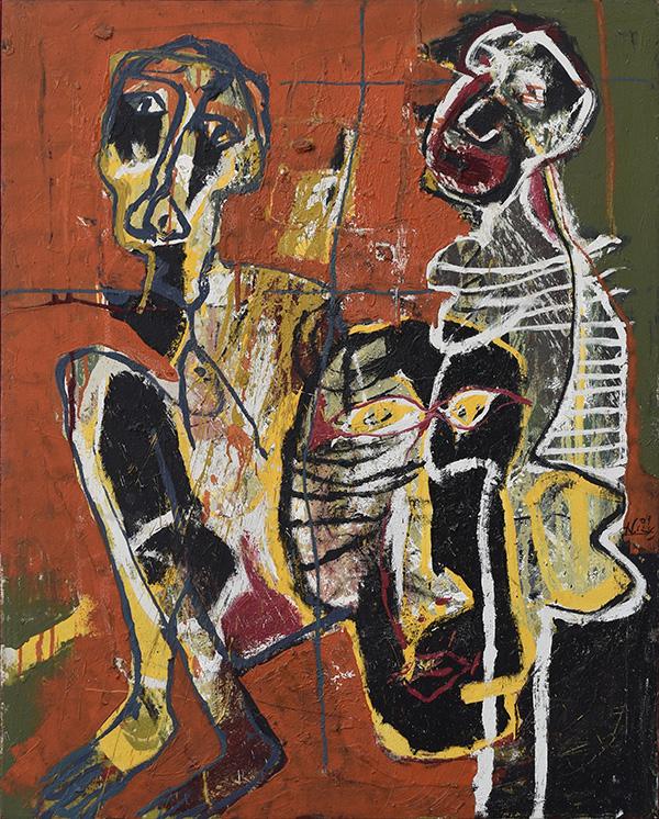 Art work by Alejandro Santiago, Untitled, 2009, painting, 100 x 80 cm