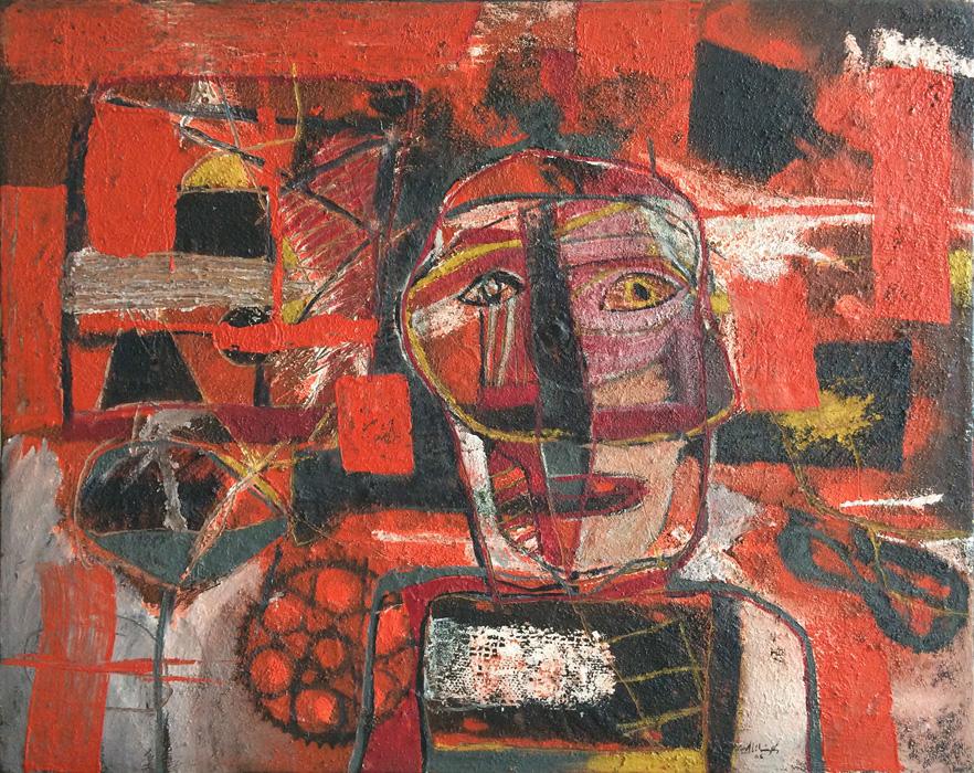 Art work by Alejandro Santiago, Untitled, 2005, painting, 80 x 100 cm