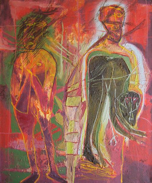 Art work by Alejandro Santiago, Untitled, 2006, painting, 120 x 100 cm