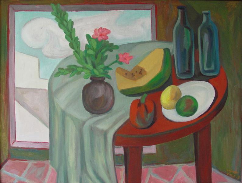 Art work by Alfredo Zalce, Bodegon con pimientos, painting, 79 x 105 cm