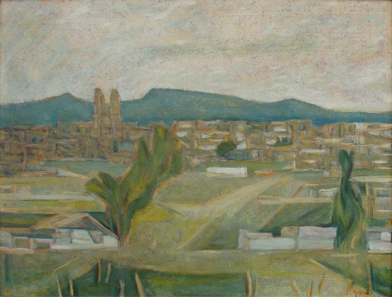 Art work by Alfredo Zalce, Morelia, painting, 60 x 79 cm