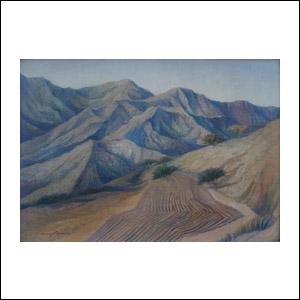 Art work by Carlos Orozco Romero, Paisaje con Tierra Arada, painting, 31.5 x 47 cm