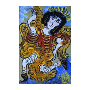 Art work by Chucho Reyes, Angel, painting, 29.5 x 19.3 in (75.5 x 49.5 cm)