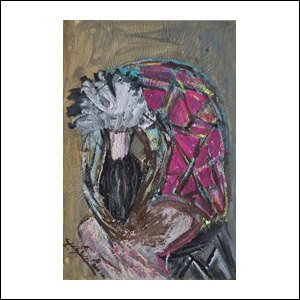 Art work by Chucho Reyes, Dancer, painting, 29.3 x 18.9 in (75.3 x 48.3 cm)