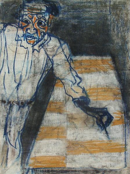 Art work by Francisco Toledo, Self Portrait LXIX, painting, 30 x 22.25 in (76 x 56.5 cm)