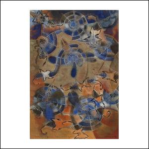 Art work by Francisco Toledo, Danza de Alacranes, painting, 28 x 19 cm