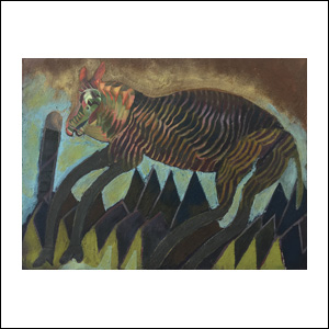 Art work by Francisco Toledo, Mani Sti Tamin Gola, painting, 22 1/4 x 30 inches (56 x 76 cm)