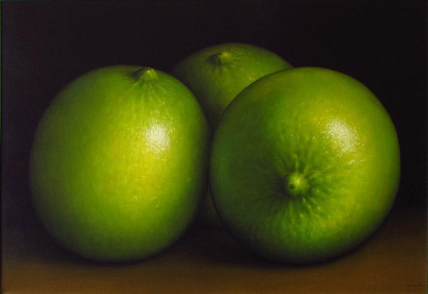 Art work by Gustavo Valenzuela, Limes, painting, 35.5 x 51.2 in (90 x 130 cm)