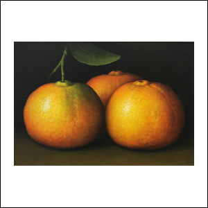 Art work by Gustavo Valenzuela, Tangerines, painting, 35.5 x 51.2 in (90 x 130 cm)