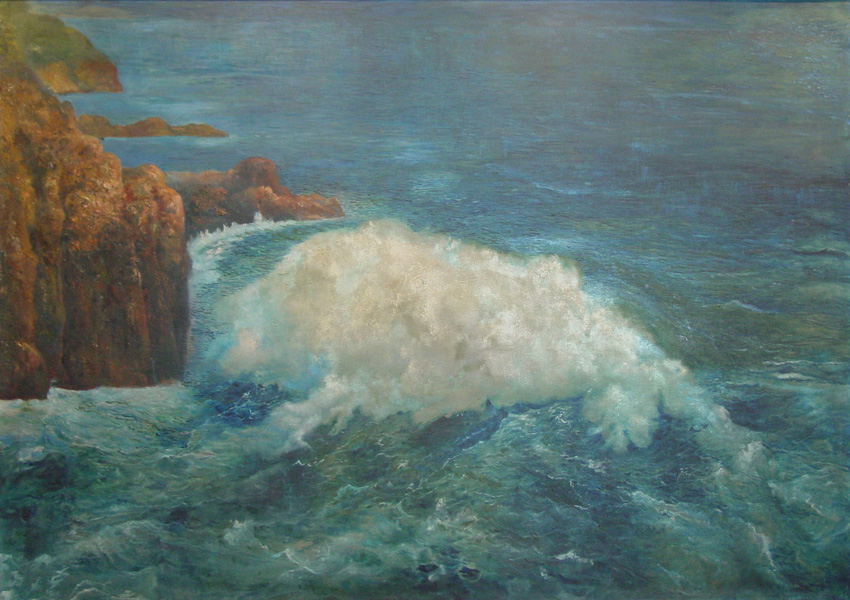 Art work by Joaquin Clausell, La Quebrada, painting, 100 x 149 cm