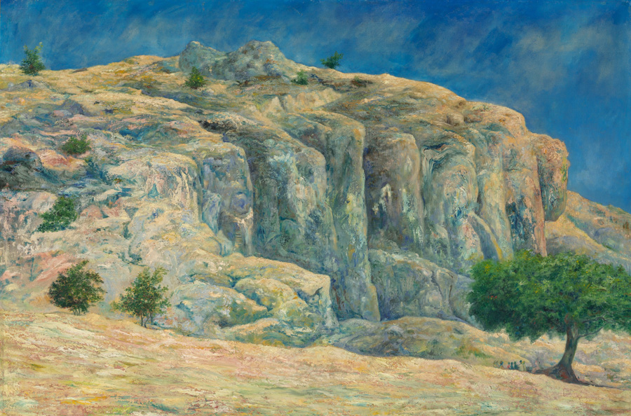 Art work by Joaquin Clausell, Las Peñas de Santa Clara, painting, 100 x 150 cm