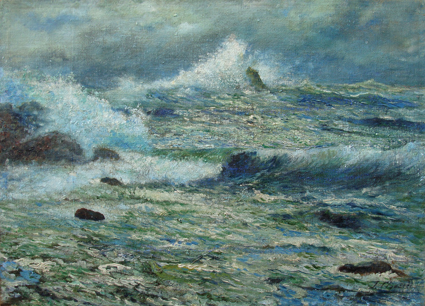 Art work by Joaquin Clausell, Tormenta Marina, painting, 47 x 65 cm