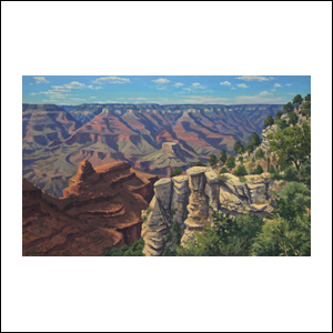 Art work by Jorge Obregon, Grand Canyon, painting, 20 x 31.75 in (50 x 80 cm)