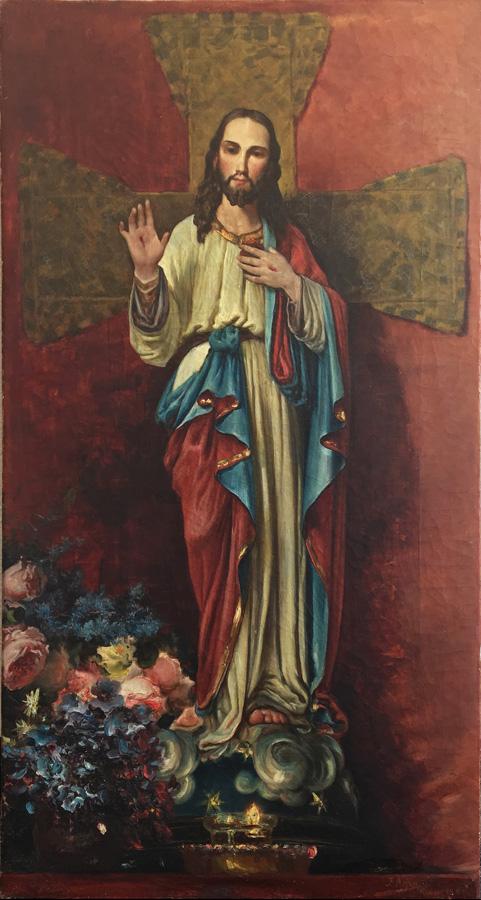 Art work by Jose Arpa, Altar al Sagrado Corazon de Jesus, painting, 98 x 51.5 cm