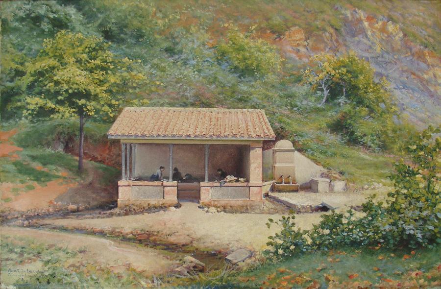 Art work by Jose Arpa, Fuente De La Coba, painting, 51 x 77 cm