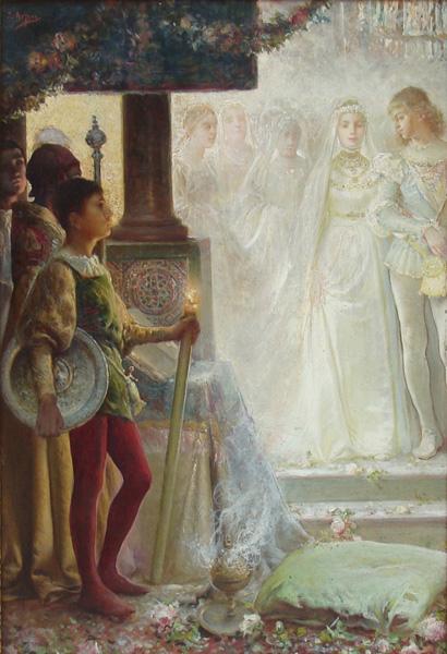 Art work by Jose Arpa, La Boda, painting, 48.5 x 34.5 cm