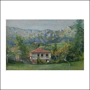 Art work by Jose Arpa, Casa de Campo, painting, 51 x 77.5 cm