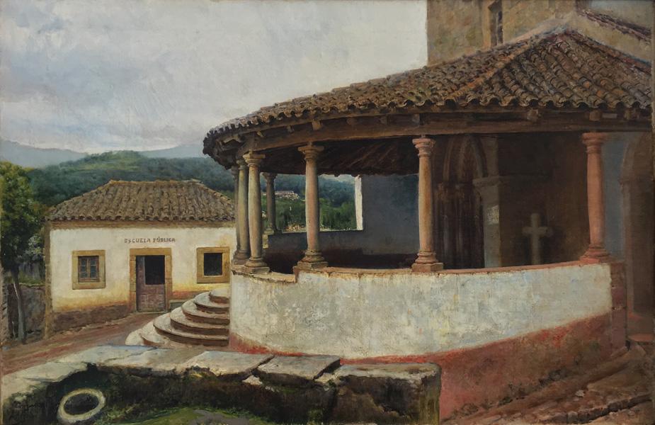 Art work by Jose Arpa, San Juan de Amandi Church at Villaviciosa, Spain, painting, 20 x 30 inches (51 x 77 cm)