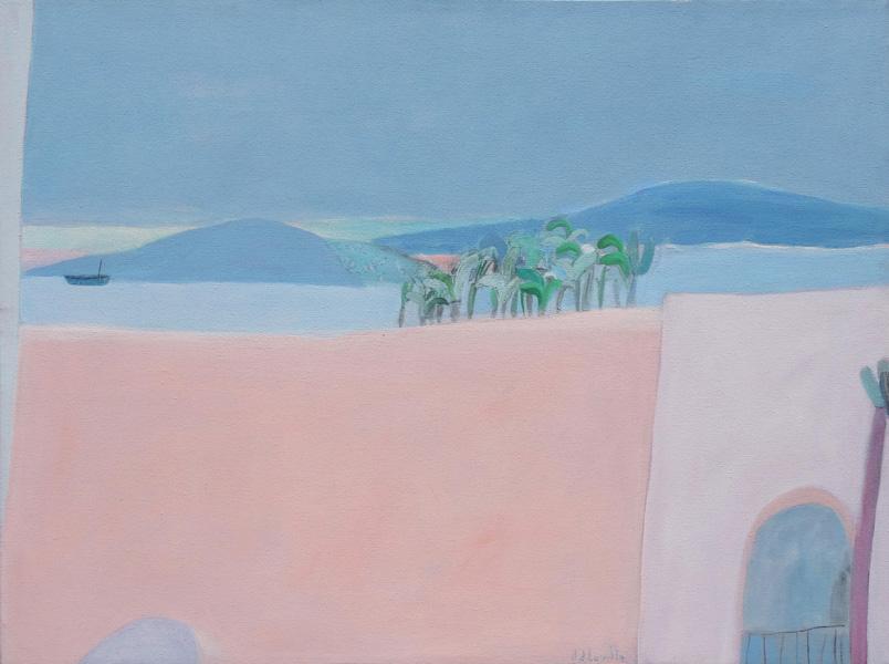 Art work by Joy Laville, Desde mi ventana, painting, 23.5 x 31.5 inches (60 x 80 cm)