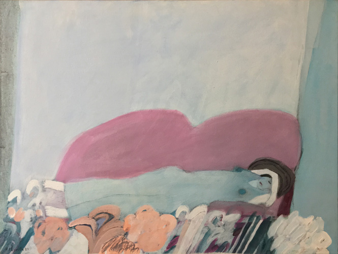 Art work by Joy Laville, La Siesta (The Nap), painting, 20.5 x 27.5 inches (53 x 70 cm)