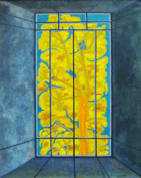 Art work by Juan Soriano, The Window, painting, 130 x 100 cm